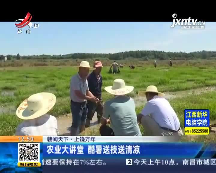 上饶:农业大讲堂 酷暑送技送清凉