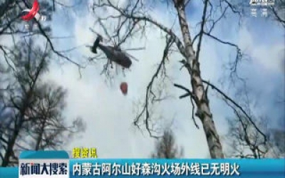 内蒙古阿尔山好森沟火场外线已无明火