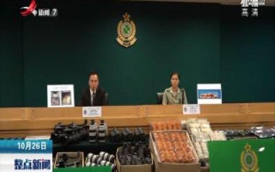 香港海关查获三千万港元走私货物
