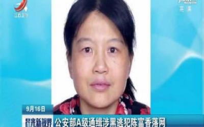 山西省:公安部A级通缉涉黑逃犯陈富香落网