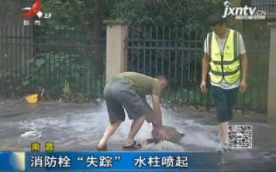"""南昌:消防栓""""失踪"""" 水柱喷起"""