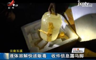 云南玉溪:液体溶解快递贩毒 收件信息露马脚