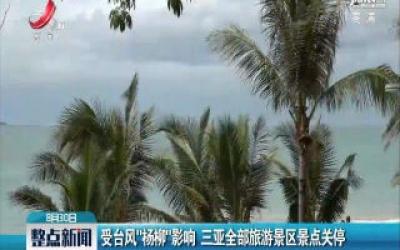 """受台风""""杨柳""""影响 三亚全部旅游景区景点关停"""