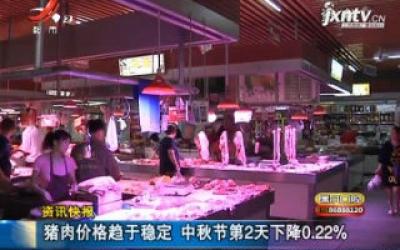 猪肉价格趋于稳定 中秋节第2天下降0.22%