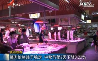 猪肉价格趋于稳定 中秋节第二天下降0.22%