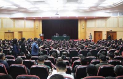 江西省委宣讲团在鹰潭赣江新区宣讲
