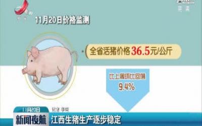 江西生猪生产逐步稳定