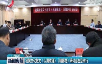 凌翼文化散文《大湖纹理》《赣鄱书》研讨会在京举行