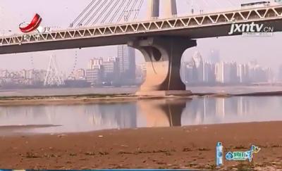 赣江南昌段外洲水文站比历史最低水位还低30多公分