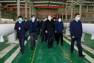 李江河在萍乡经开区走访复工复产工业企业和重点项目