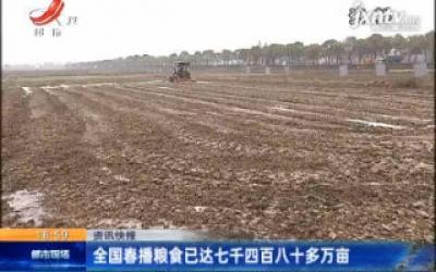 全国春播粮食已达七千四百八十多万亩