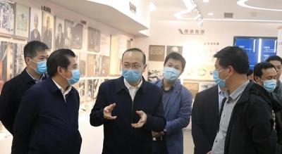 江西省发改委刘兵一行在芦溪调研产业转型升级示范区建设项目复工达产工作