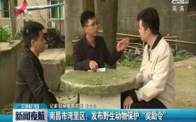 """南昌市湾里区:发布野生动物保护""""奖励令"""""""