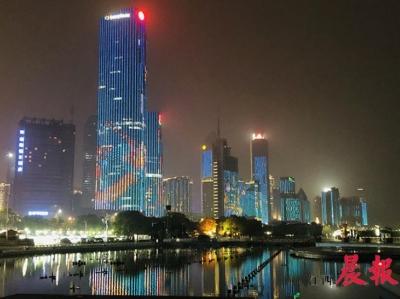 南昌一江两岸灯光秀10日晚恢复亮灯