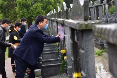 """进贤县民政局开展""""清明代祭 传递哀思""""活动"""