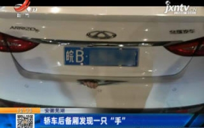 """安徽芜湖:轿车后备厢发现一只""""手"""