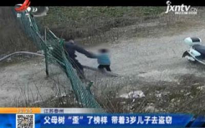 """江苏泰州:父母树""""歪""""了榜样 带着3岁儿子去盗窃"""