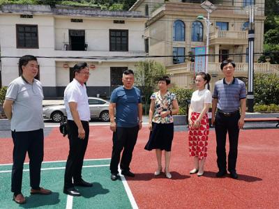 安源区政协副主席张理桃在五陂镇督导新农村及法治建设