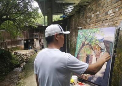 厦门市艺术家深入黎川县开展写生交流活动