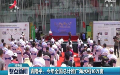 袁隆平:2020年全国总计推广海水稻10万亩