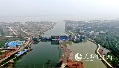 江西九江八里湖赛城湖控制枢纽工程投入运行
