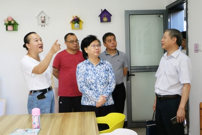 聂晓葵督导萍乡经开区社管三局社区及综合文化服务中心建设情况