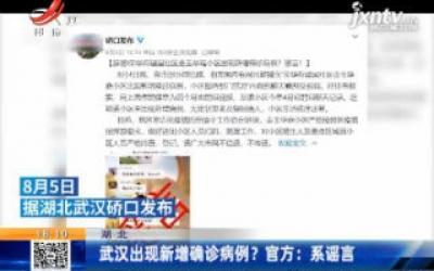 武汉出现新增确诊病例?官方:系谣言