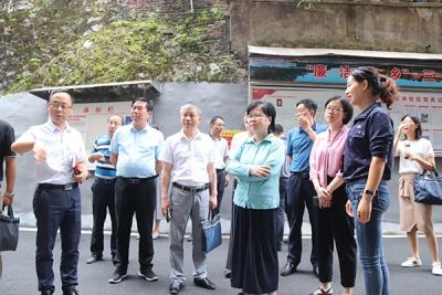 聂晓葵督导萍乡安源区八一街创建文明城市工作