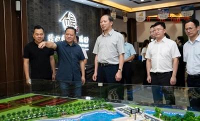 江西省商务厅在新余市调研开放型经济和商贸消费工作