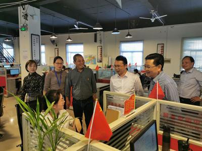 """萍乡市委网信办在后埠街督导网络安全和互联网企业党建""""三化""""建设工作"""