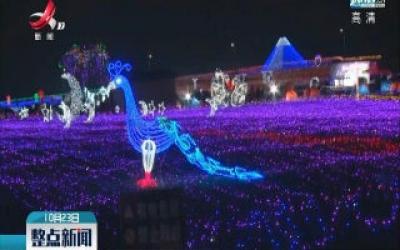 进贤县:田野上的灯光秀