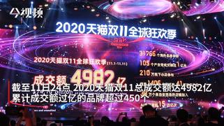2020年天貓雙11成交額達到4982億!