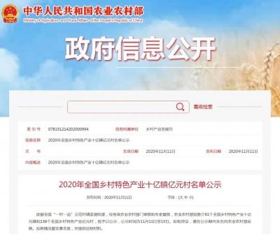 正在公示!文港镇入围全国乡村特色产业十亿元镇名单