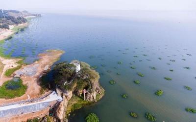 """鄱阳湖水位快速下降 与7月相比""""缩水""""三分之二"""