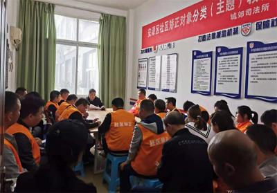 萍乡安源区城郊司法所开展社区矫正对象分类教育活动