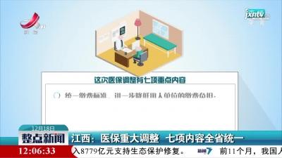 江西:医保重大调整 七项内容全省统一