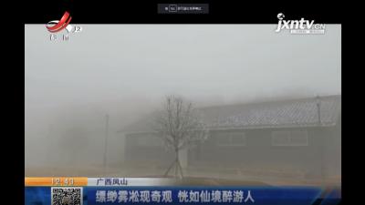 广西凤山:缥缈雾凇现奇观 恍如仙境醉游人