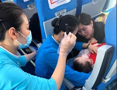 幼儿突发抽搐昏迷 江西航空紧急备降抢救