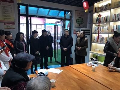萍乡市委常委、统战部部长李宁到上湾社区调研侨务工作