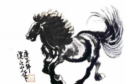 中国画坛指墨画艺术大家朱祖国作品在沪亮相