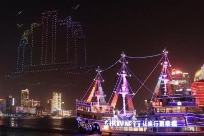 别眨眼!带你重温上海夜空的无人机光影秀