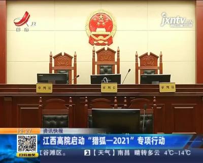 """江西高院启动""""猎狐-2021""""专项行动"""