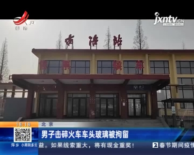 北京:男子击碎火车车头玻璃被拘留