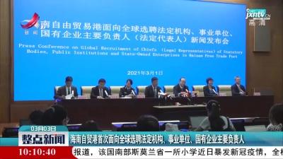 海南自贸港首次面向全球选聘法定机构、事业单位、国有企业主要负责人