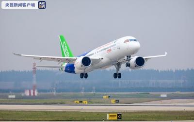 国产C919大型客机全球首单正式落地 年内交付首架