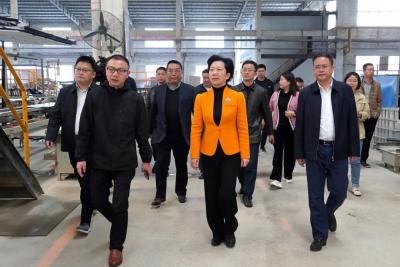 胡雪梅在浮梁县调研园区建设和产业发展