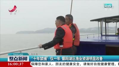"""九江:""""十年禁捕""""仅一年 鄱阳湖区渔业资源明显改善"""