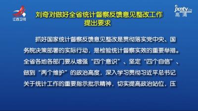 全省统计督察反馈意见整改工作动员会召开 刘奇易炼红提出要求