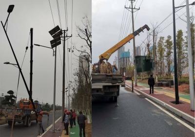 宜春经开区:提质改造路灯 照亮回家路