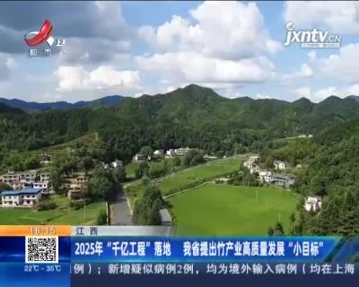 """江西:2025年""""千亿工程""""落地 我省提出竹产业高质量发展""""小目标"""""""